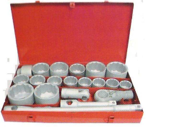 "21PC 1"" socket Set  RATC METAL CASE"