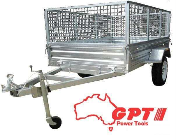 6X4 BOX TRAILER & TIPPER 900MM CAGE GALVANISED WITH 13 INCH WHEEL & BRACKET