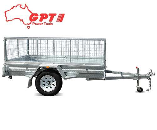 8x5 BOX TRAILER & TIPPER | 600MM CAGE | GALVANISED WITH 14 INCH WHEEL & BRACKET AND COVER