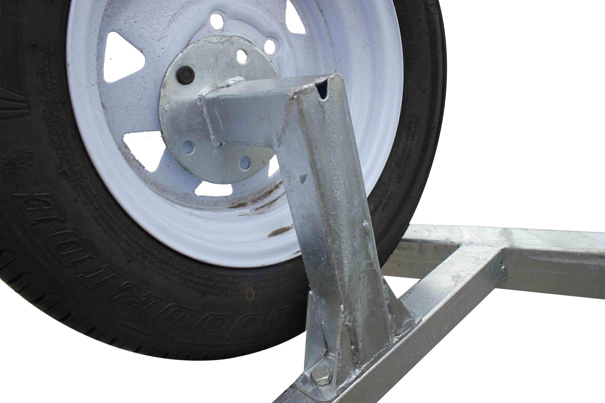 TRAILER SPARE 13 INCH WHEEL + BRACKET FOR  6x4 MODELS