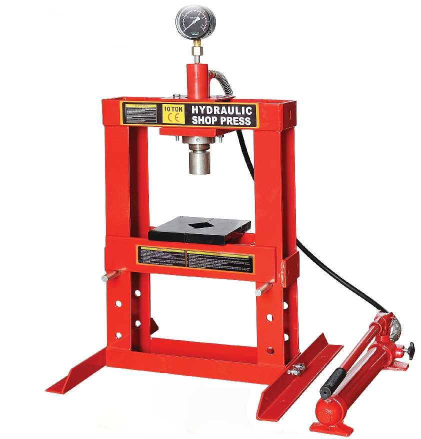 Benchtop 10 Ton Hydraulic Shop Press with Gauge