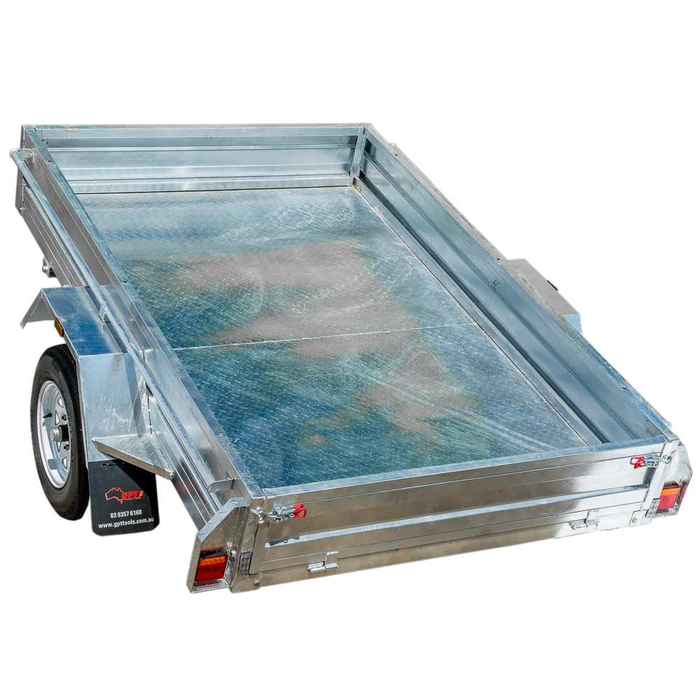 8X5 BOX TRAILER & TIPPER | GALVANISED CHECKER PLATE FLOOR