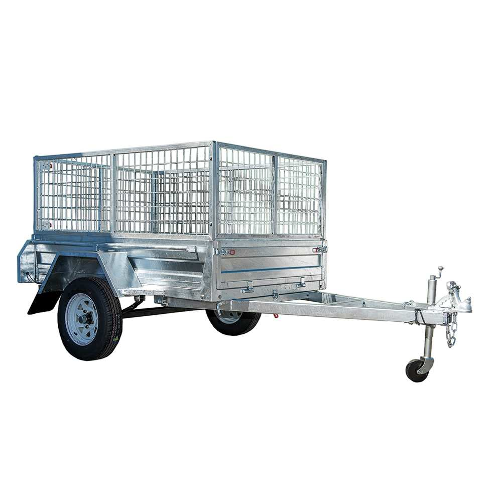 8X5 BOX TRAILER & TIPPER | 900MM CAGE | GALVANISED CHECHER PLATE FLOOR