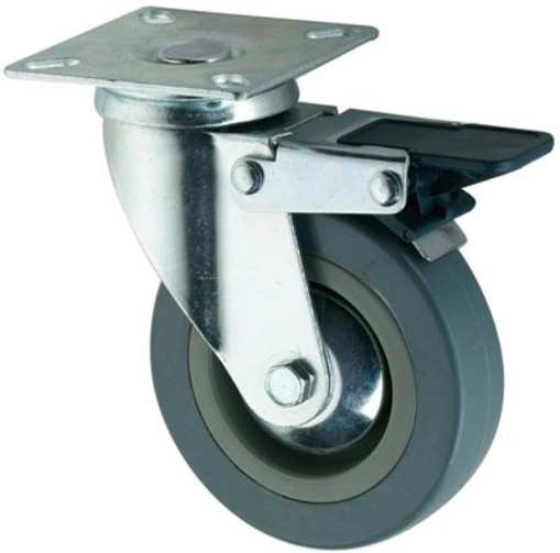 100 x 27 Swivel Casters Wheels With Break