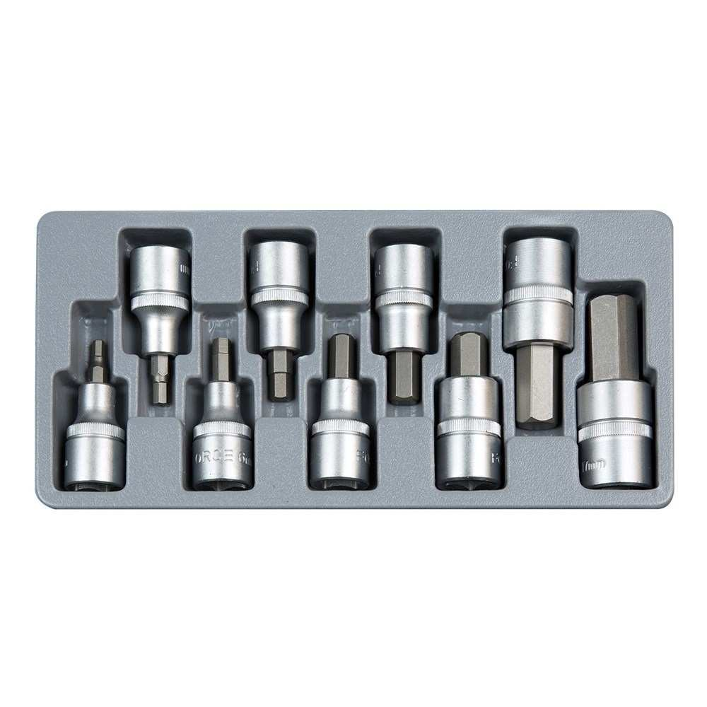 "1/2"" Hex socket bit set SAE 10pc"