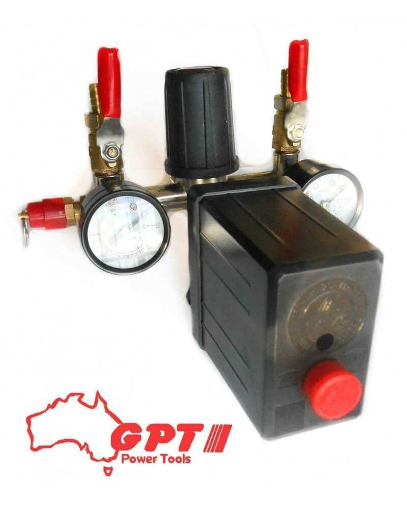 COMPRESSOR PRESSURE SWITCH WITH AIR REGULATOR & GAUGE & VALUE