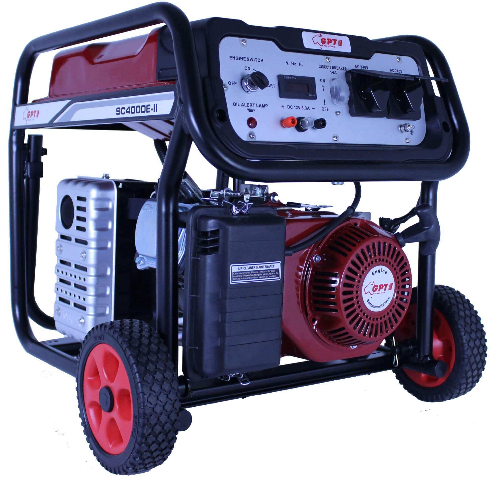 HIGH QUALITY GPT 4000 GENERATOR 7.5HP 3.5KVA KEY START & REMOTE CONTROL
