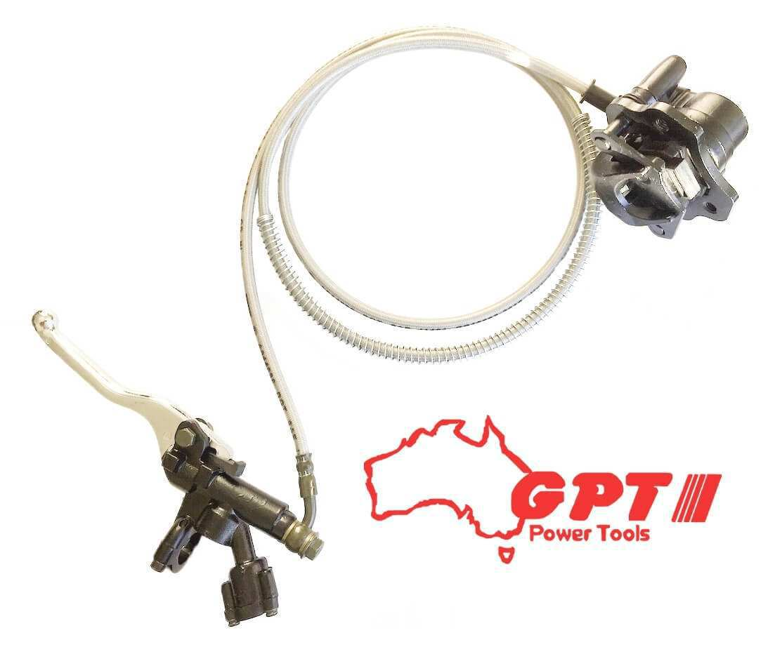 NEW GPT GO KART HYDRAULIC DISC BRAKE PAD KIT CALIPER & CABLE 196CC 160CC GO KART LEVER PROJECT