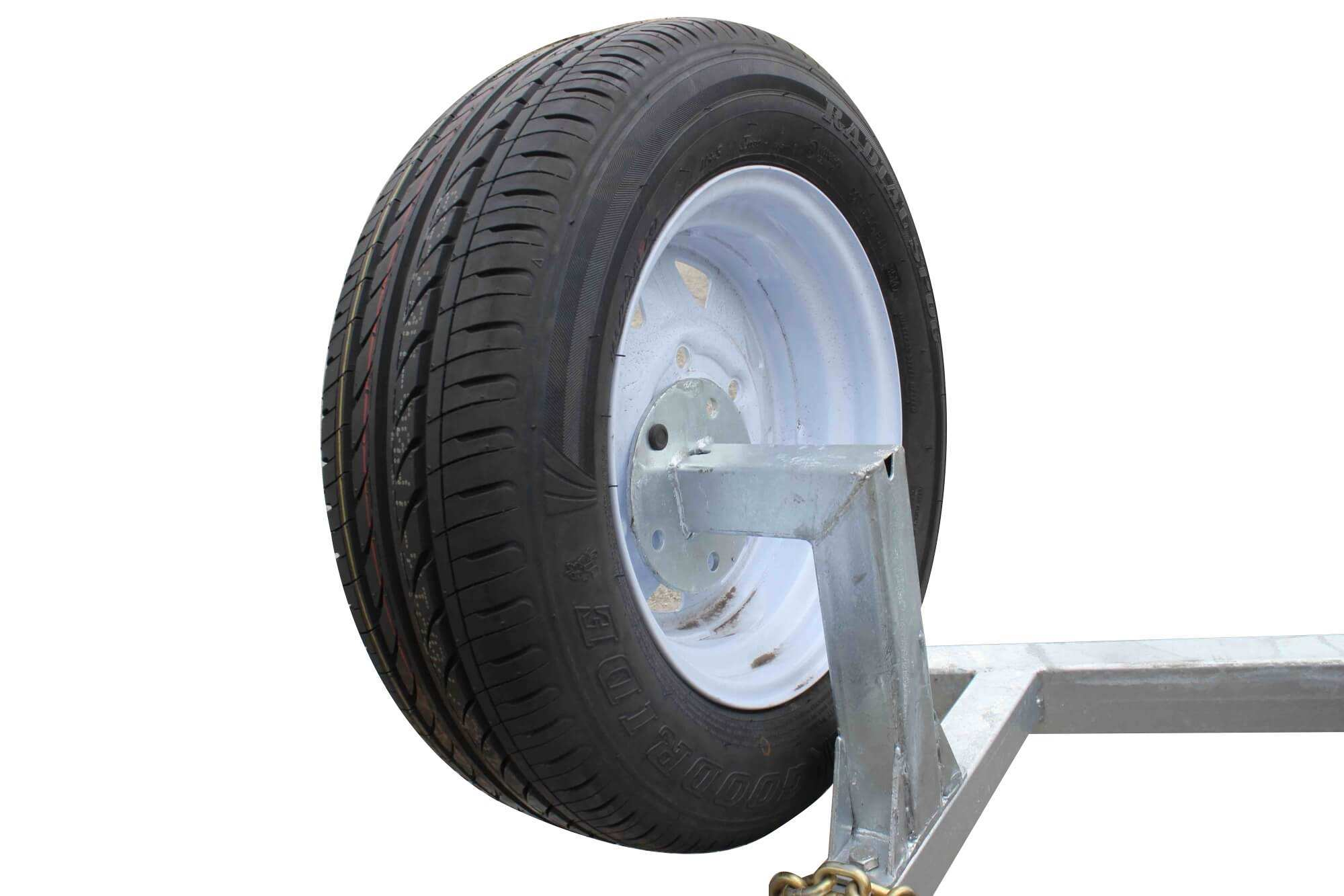 TRAILER 14 INCH SPARE WHEEL + BRACKET FOR  8X5 MODELS