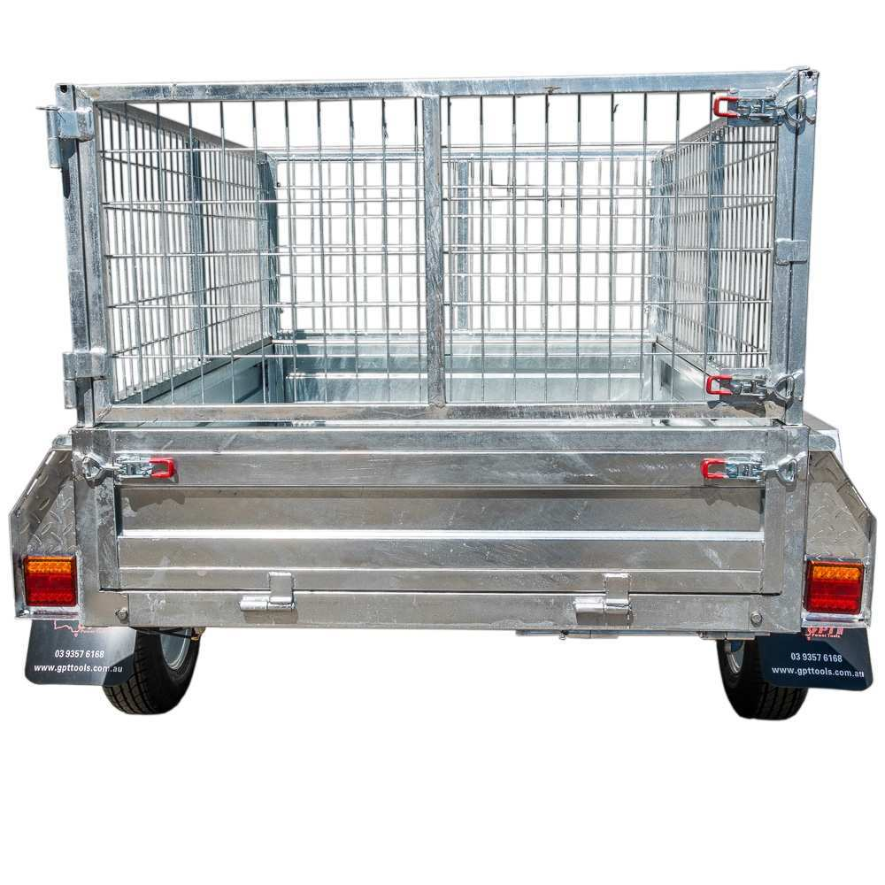 8X5 BOX TRAILER & TIPPER | 600MM CAGE | GALVANISED